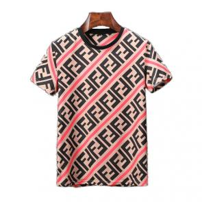original fendi t-shirt luxory brands ff stripe red line